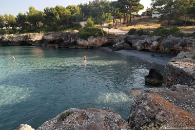 The small public beach