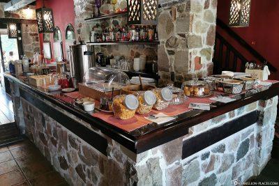 Das Frühstück im Monastiri Guesthouse