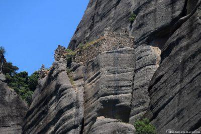 Die Ruine eines aufgegebenen Klosters