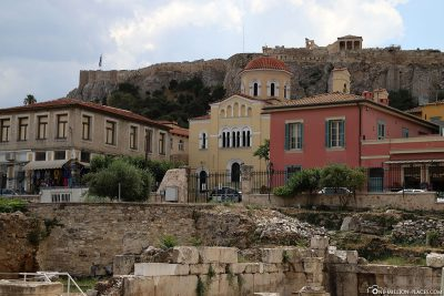 View of the Acropolis from Hadrian's Library