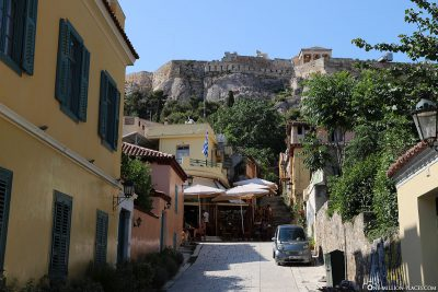 View from Plaka to the Acropolis