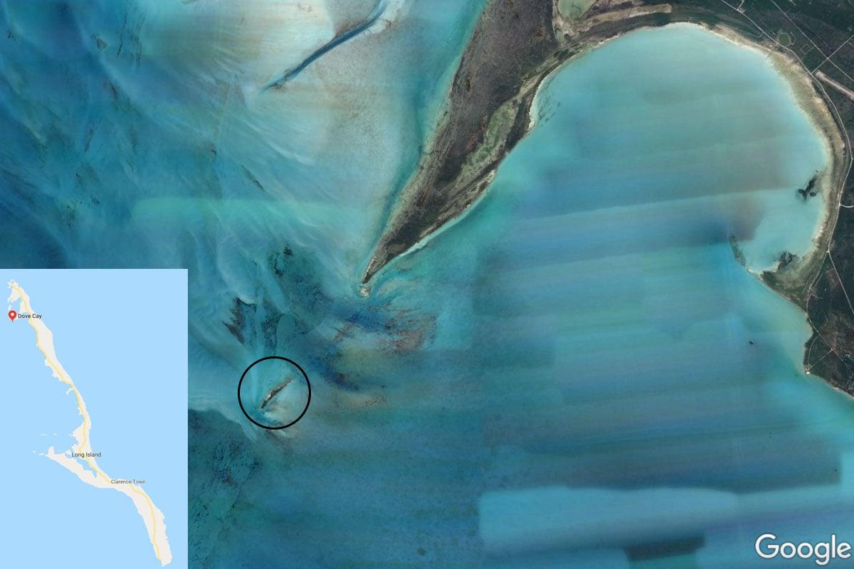 Dove Cay, Karte, Long Island, Bahamas, Karibik, Schweine, Reisebericht