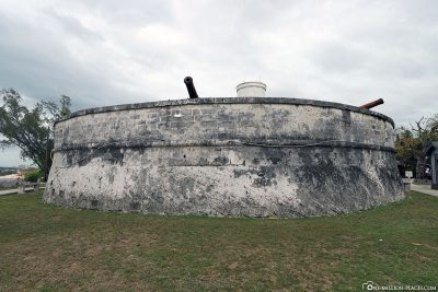 The protective wall of Fort Fincastle