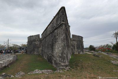 Die Mauern des Fort Fincastle