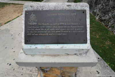 Infotafel über das Fort Fincastle