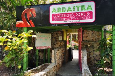 Entrance to Ardastra Gardens, Zoo and Conservation Centre