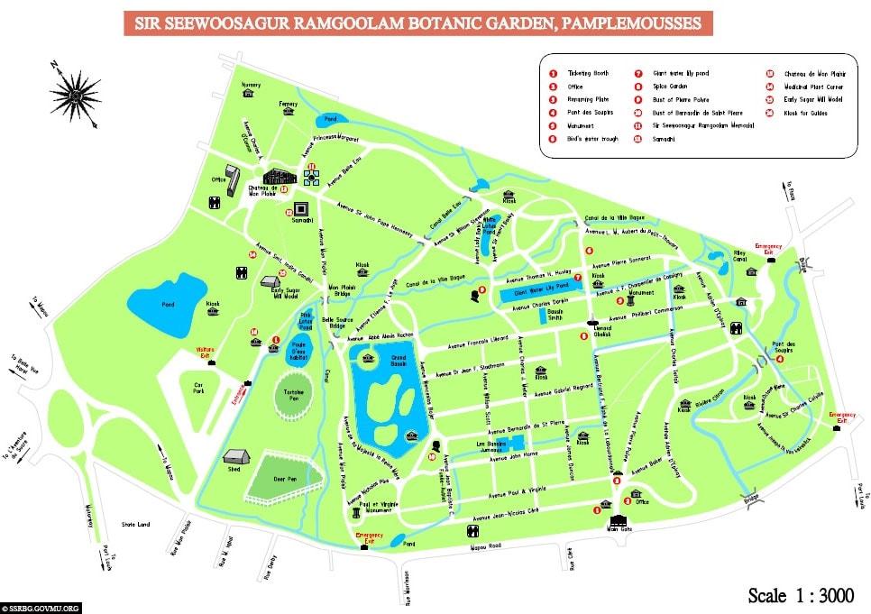 Map, Map, Map, Botanical Garden, Mauritius