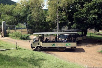 A Safari Bus in Casela Park