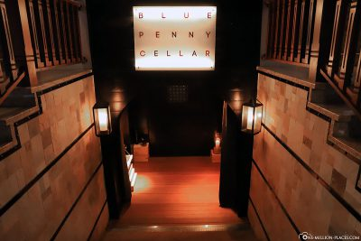 Wine tasting and dinner at Blue Penny Cellar