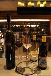 Constance Wine Flight im Blue Penny Cellar