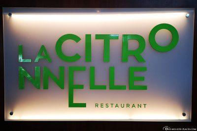 Das Hauptrestaurant La Citronnelle