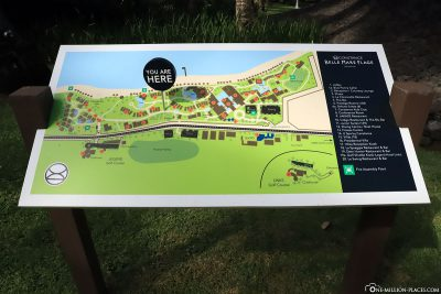 Signposts for the resort