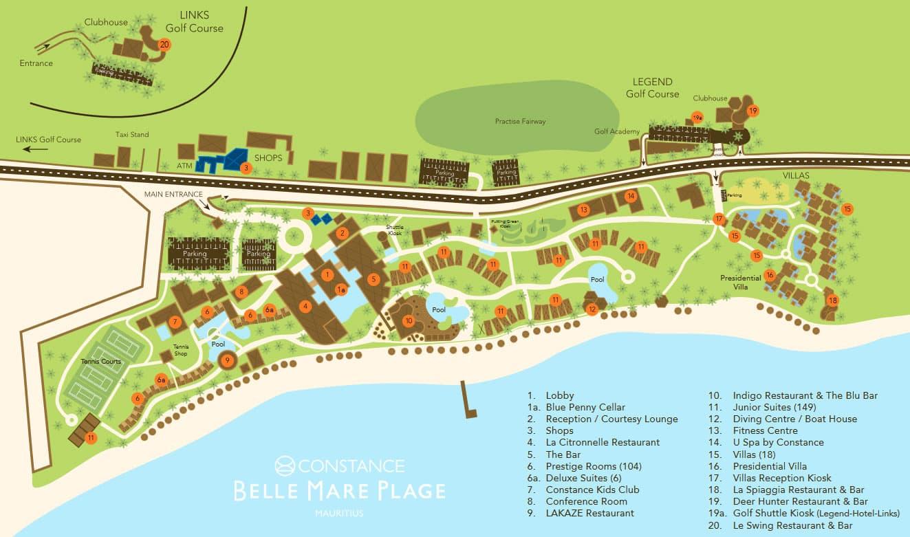 Constance Belle Mare Plage, Karte, Lageplan, Map, Übersicht, Mauritius, Reisebericht, Erfahrung