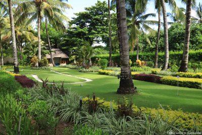 Mini golf in the hotel