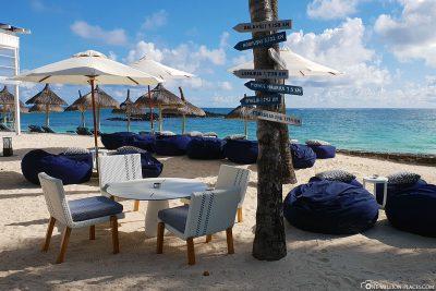 Lounge seats on the beach