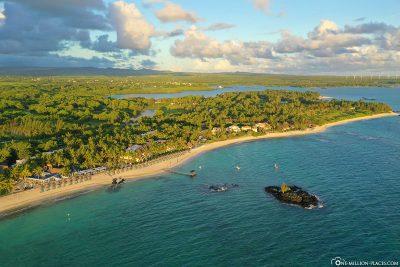 The east coast of Mauritius