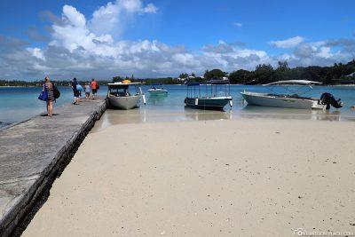 The pier at Blue Bay Beach