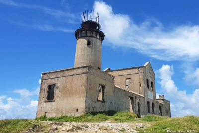 The old lighthouse on the island of Ile Aux Fouquets