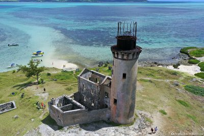 Aerial view of the old lighthouse
