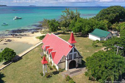 The church of Cap Malheureux in Mauritius
