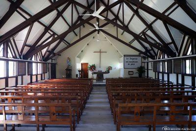Der Innenraum der Kirche Cap Malheureux