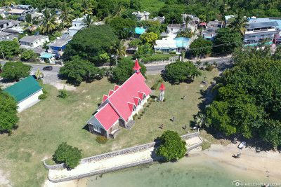 Die Kirche Cap Malheureux auf Mauritius