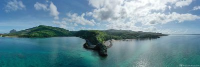 Drone image of Macondé viewpoint in Mauritius