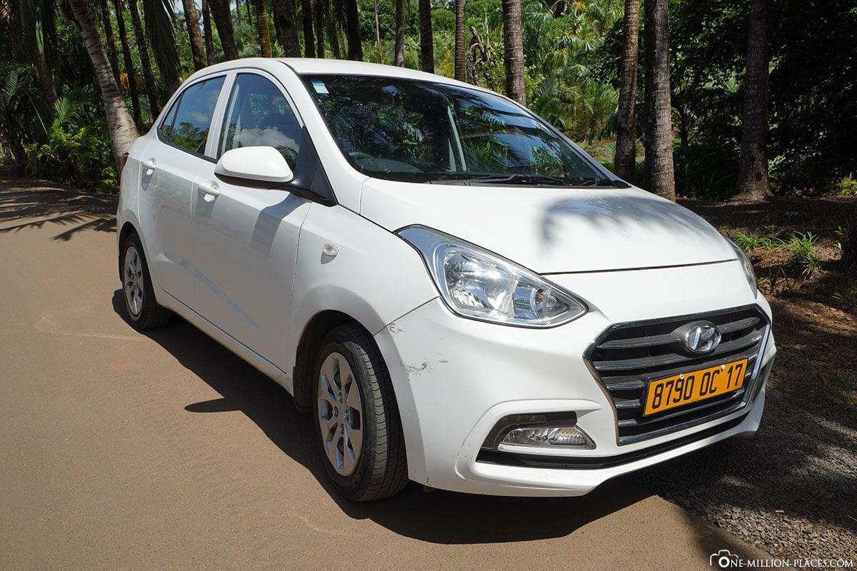 Mauritius, Car Hire, Airport, First Car Rental, Hyundai Grand i10, Travel Report, Car Rental, Car Rental