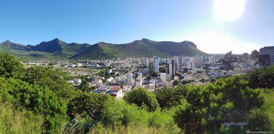 Panorama of Port Louis in Mauritius