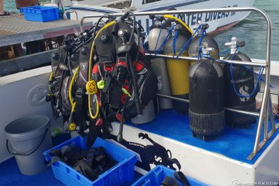 The equipment on board