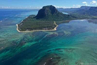 The underwater waterfall off Mauritius