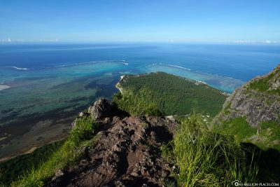 The view from Mount Le Morne