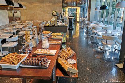 Das Frühstück im Hotel