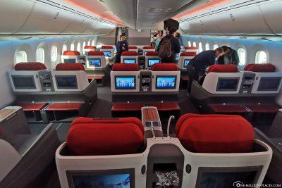 Die Business Class von LATAM im Dreamliner