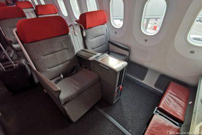Die Sitze der Business Class