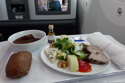The food in the business class of LATAM