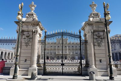 The entrance gate on the south side