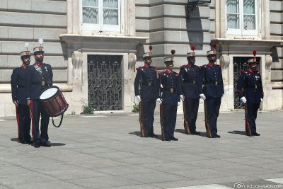 Wachablösung am Palast