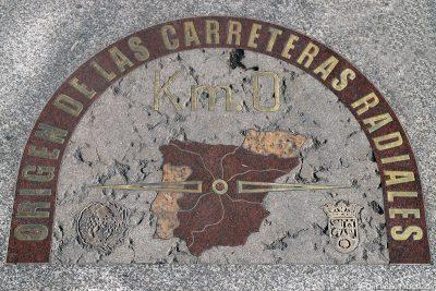 Der Null-Kilometerstein auf der Puerta del Sol
