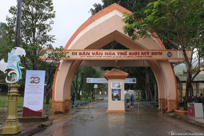 The entrance to the temple complex