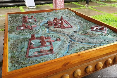 A model of the My Son temple complex