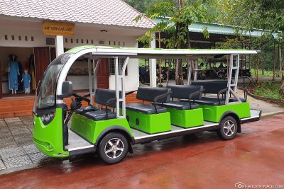 The electric shuttle buses