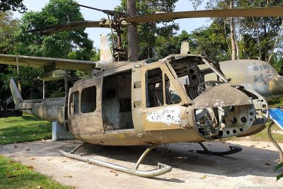 An old helicopter Bell UH-1