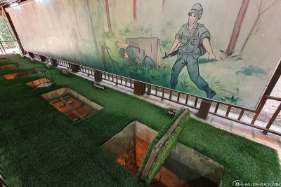 The various traps of the Vietcong