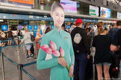 Check In am Flughafen Da Nang