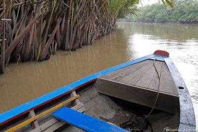 Fahrt auf dem Ben Tre River