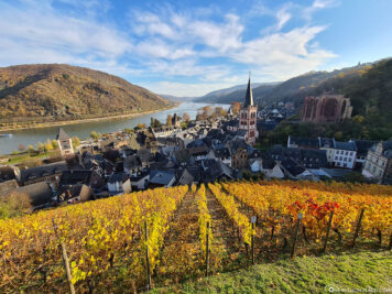 View of Bacharach and the Rhine