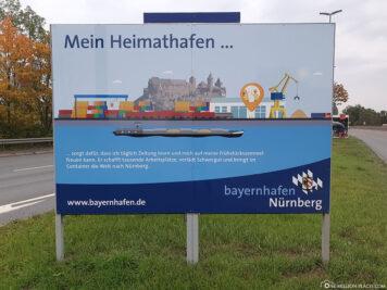 Der Kreuzfahrthafen in Nürnberg