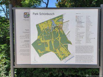 Map of the Schönbusch Park