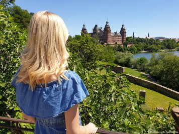 View of the castle in Aschaffenburg
